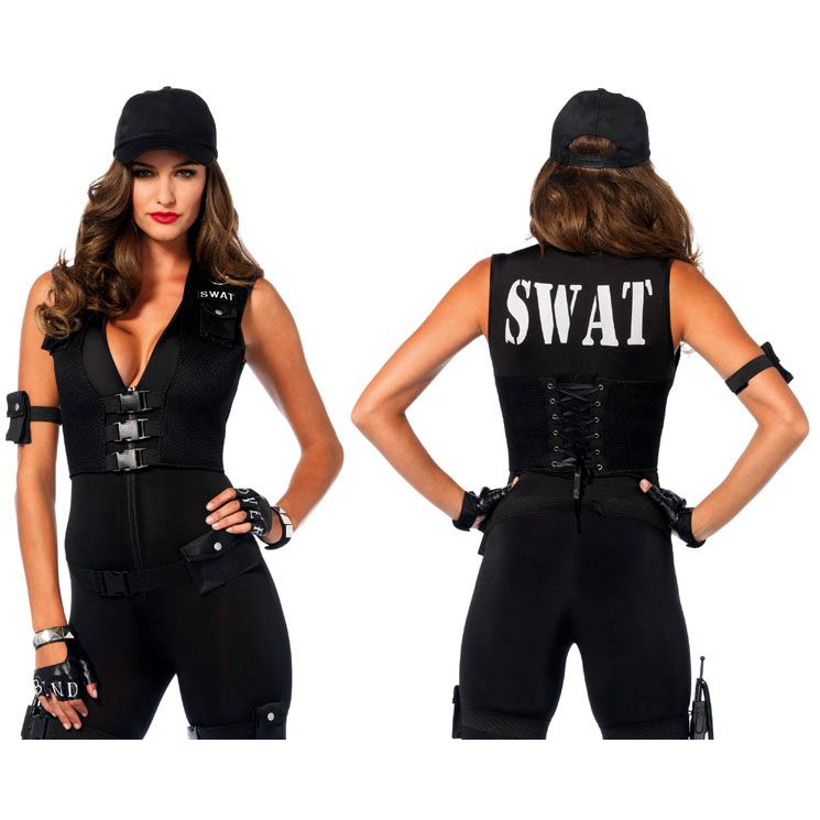 Leg Avenue Womens Black SWAT Costume  sc 1 st  Camouflage.ca : leg avenue swat costume  - Germanpascual.Com