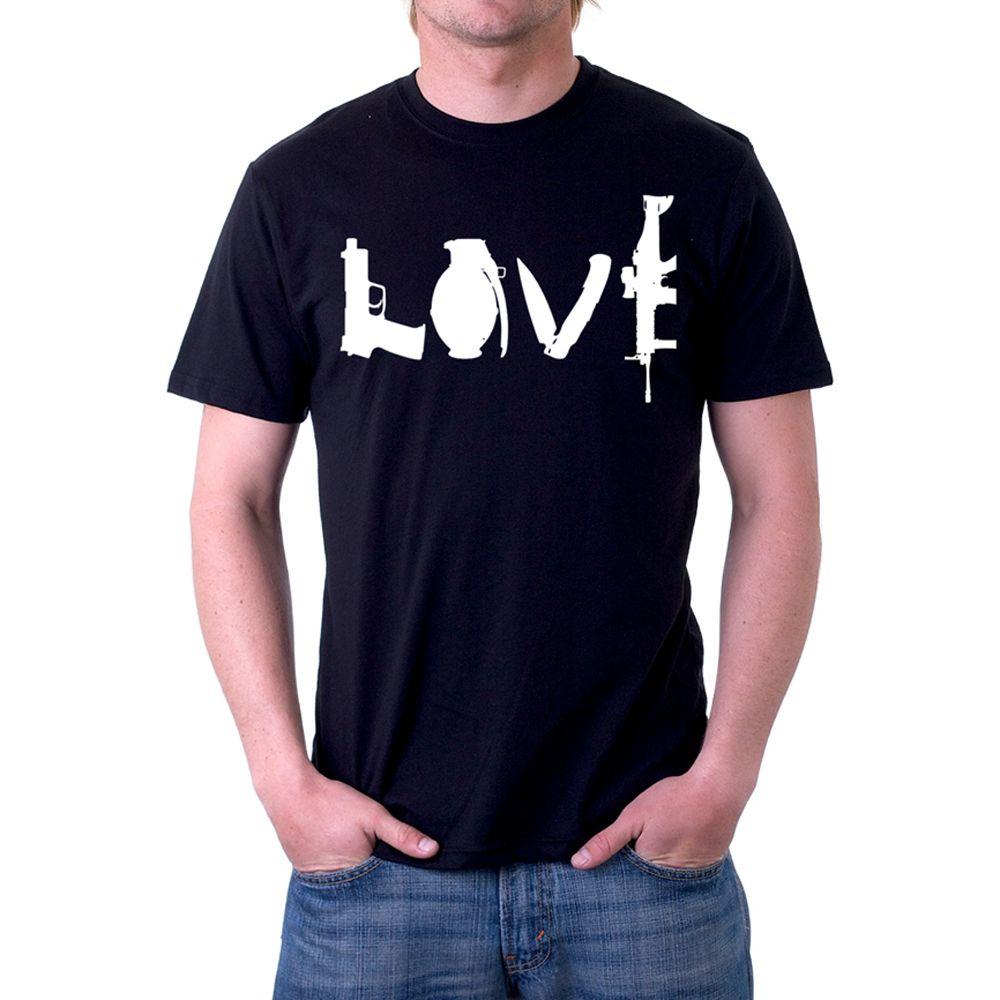 Love weapons custom printed t shirt for Custom printed t shirt