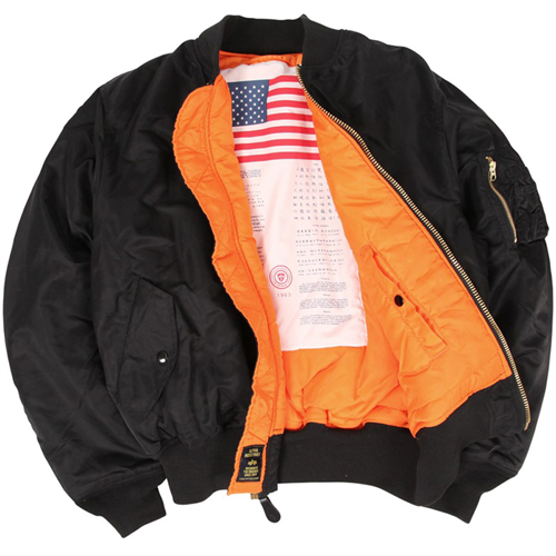 Alpha MA-1 Blood Chit Flight Jacket