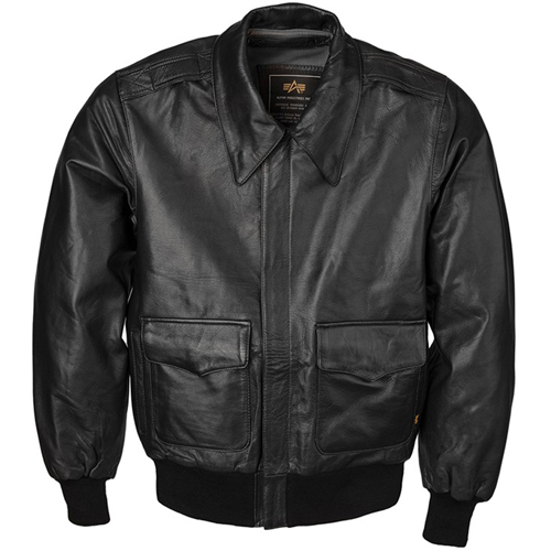 Alpha A-2 Leather Jacket