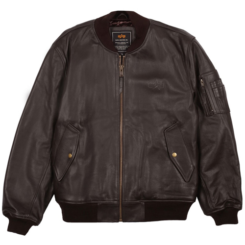 Alpha MA-1 Leather Jacket