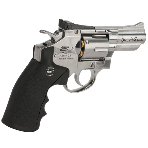 ASG Dan Wesson 2.5-Inch Silver Pellet Revolver