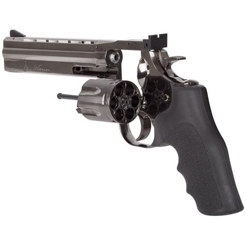 715 Lead Pellet Revolver 6 Inch - Steel Grey