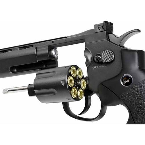 6 Grey CO2 Airsoft Revolver - US Version
