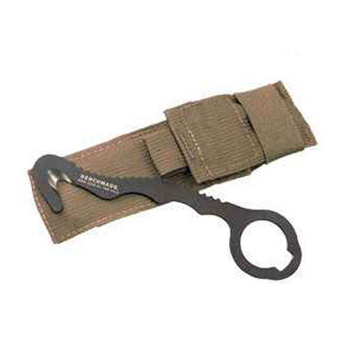 Benchmade 8 Rescue Hook Strap Cutter w Soft Coyote Sheath