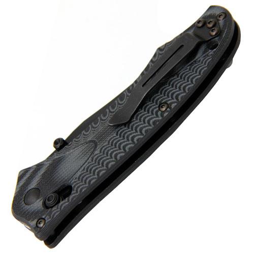 Osborne Rift Axis 3.67 Inch BK1 Combo Blade Folding Knife