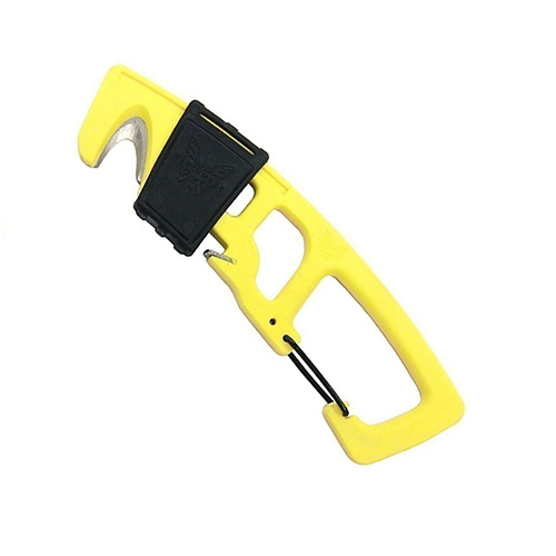 Benchmade Safety Cutter With Yellow Handle Carabineer Clip