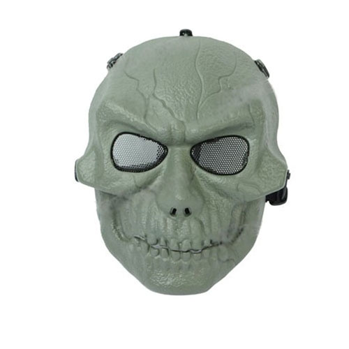 Tactical Upgraded Plastic Olive Drab Mask with Mesh Eye Protection