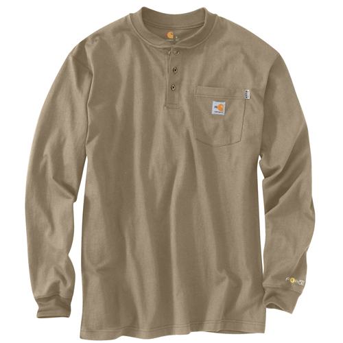 Flame Resistant Force Cotton Long-Sleeve Henley
