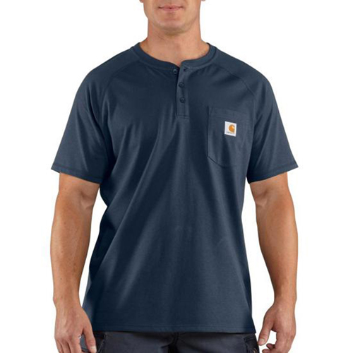 Carhartt Force Cotton Delmont Short-Sleeve Henley