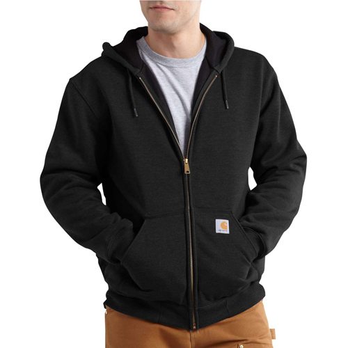 Thermal-Lined Hooded Zip-Front Sweatshirt