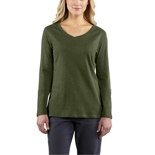 Carhartt Women's Long-Sleeve V-Neck T-Shirt