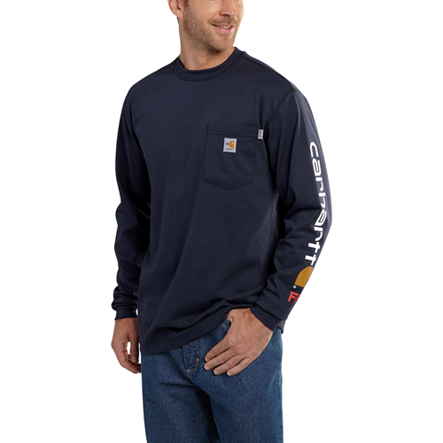 Carhartt Flame-Resistant Force Graphic Long-Sleeve T-Shirt
