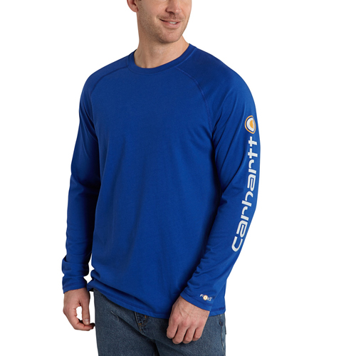Carhartt Force Cotton Delmont Sleeve Graphic Long-Sleeve T-Shirt
