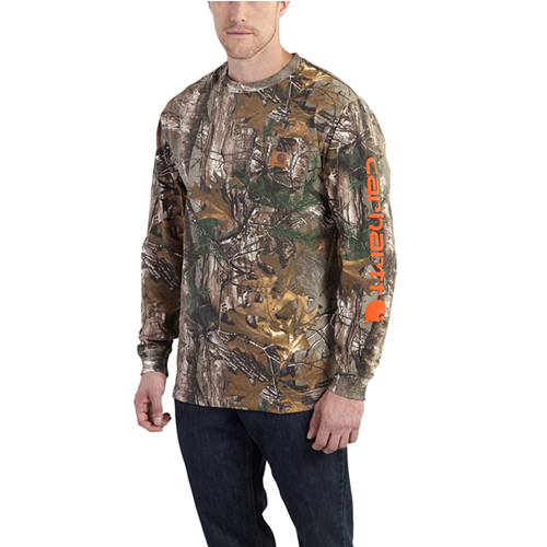 Carhartt Workwear Graphic Camo Sleeve Long Sleeve T-Shirt