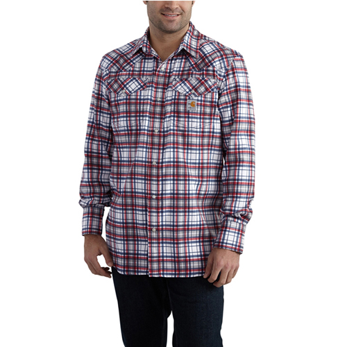 Carhartt Flame Resistant Snap-Front Plaid Shirt