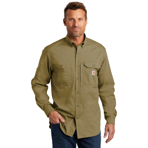 Carhartt Force Ridgefield Solid Long-Sleeve Shirt