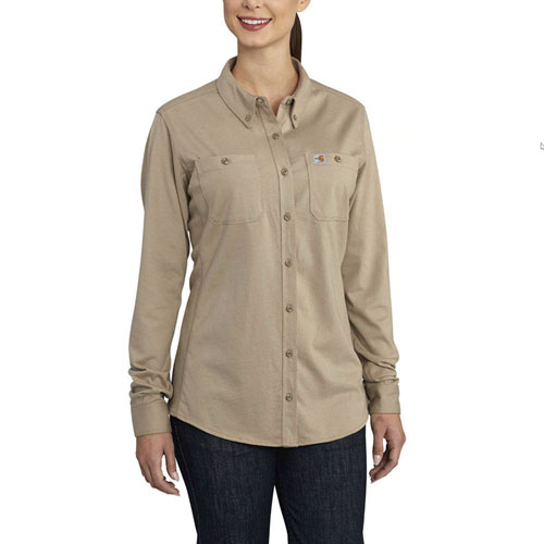 Carhartt Womens FR Womens Force Cotton Hybrid Shirt