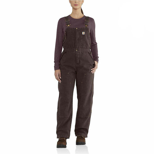 Carhartt Womens Weathered Duck Wildwood Bib Overalls