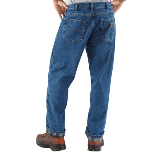 Carhartt Relaxed Fit Straight Leg/Flannel Jeans