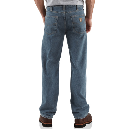 Straight/Traditional Fit Straight Leg Jeans