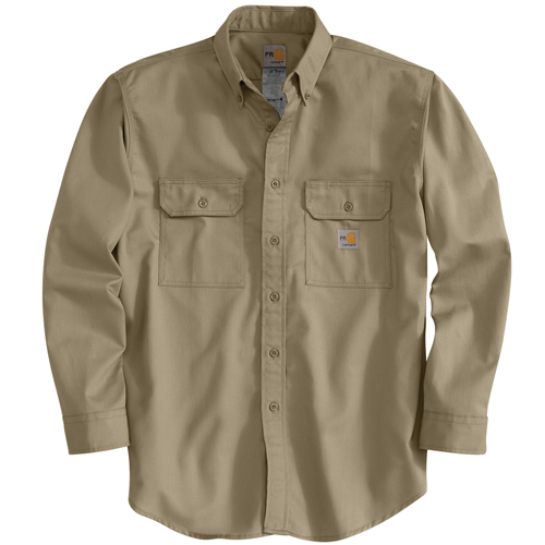 Carhartt Flame-Resistant Twill Shirt with Pocket Flap