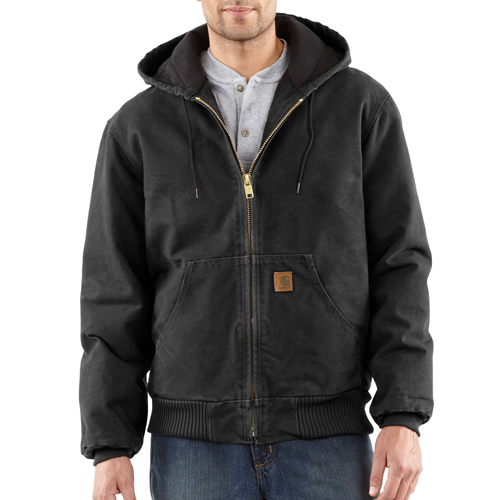 Carhartt Sandstone Active Jacket-Quilted Flannel Lined