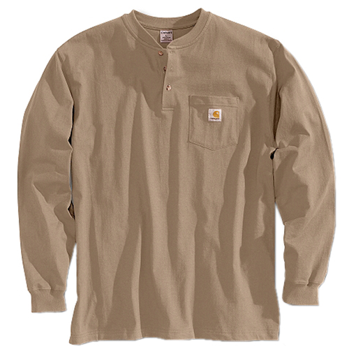 Carhartt Henley Workwear Long Sleeve T-Shirt