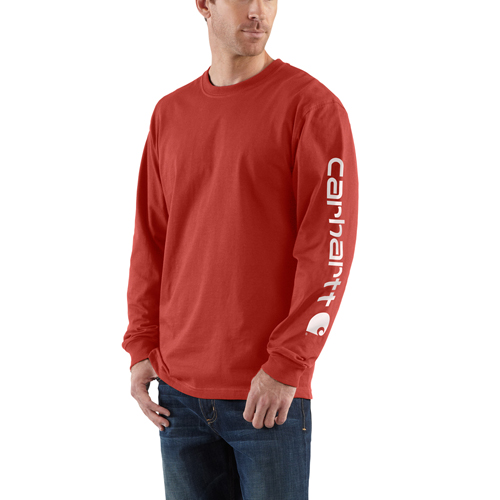 Carhartt Long-Sleeve Graphic Logo T-Shirt