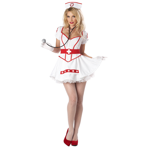 California Womens Nurse Heart Breaker Costumes