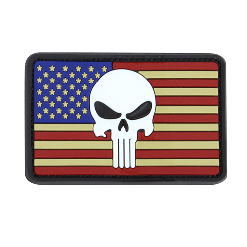 Condor PVC Punisher Classic Flag Patches - Red/White/Blue