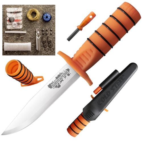 Survival Edge Polypropylene Handle Fixed Knife w/ Kit