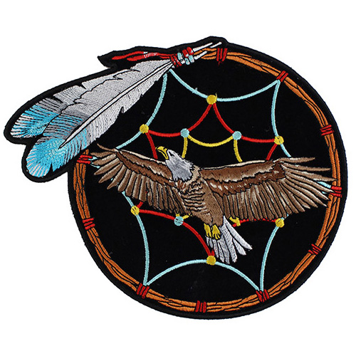 Feather Dreamcatcher Eagle Patch Medium - 6x6 Inch
