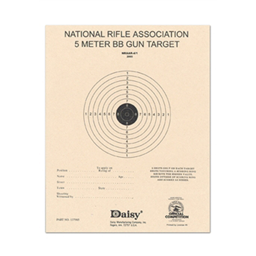 Official NRA 5-Meter BB Target