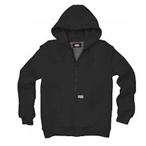 Hooded Thermal Lined Fleece Black Jacket