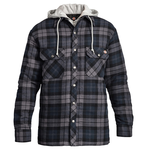 Dickies Faux Fleece Plaid Hoodie Shirt