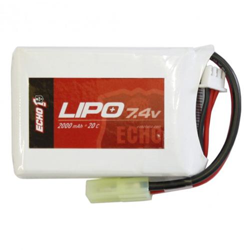 Echo1 7.4V 1600mAh 30C LiPo AEG Airsoft Battery