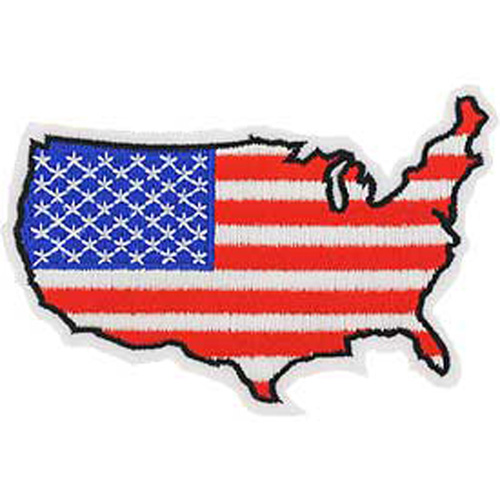 Patch-Flag Usa Map Design