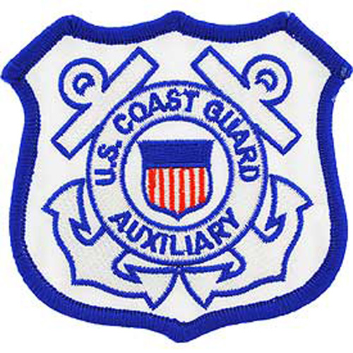 Patch-Uscg Auxiliary Blk