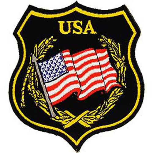 Patch-Flag Usa Sheild Blk