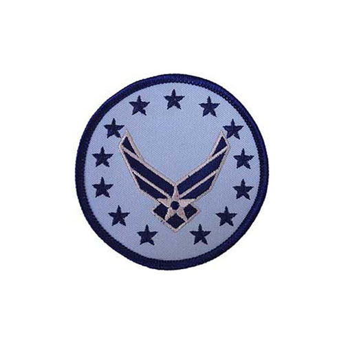 Patch USAF Logo Wings RND