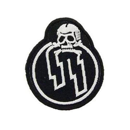 Wwii German Ss With Skul 3 Inch Patch