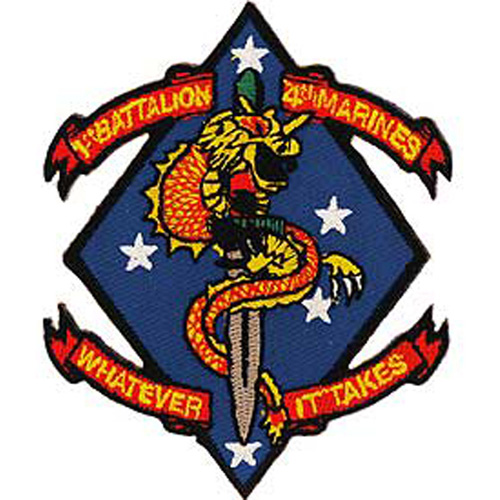 Patch-Usmc 01st Bn/4th