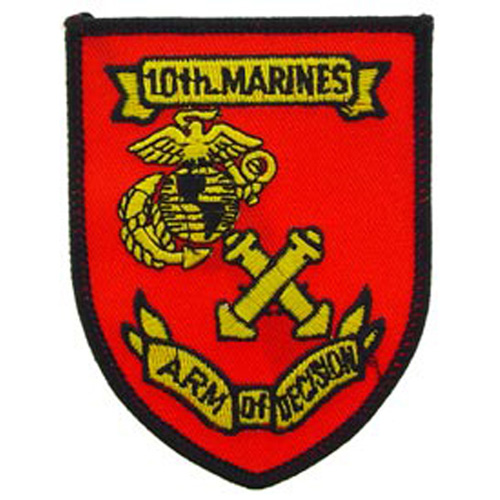 Patch-Usmc 10th Mar. Rgt.