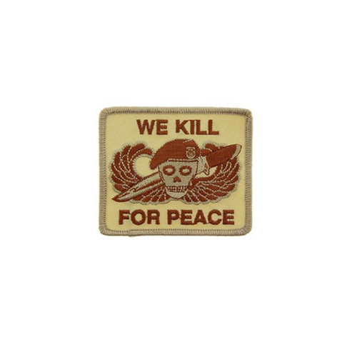 Patch We Kill For Peace Desert