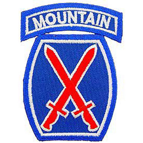 Patch-Army 010th Mtn.Div.