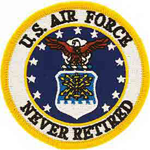 Patch-Usaf Logo Never Ret