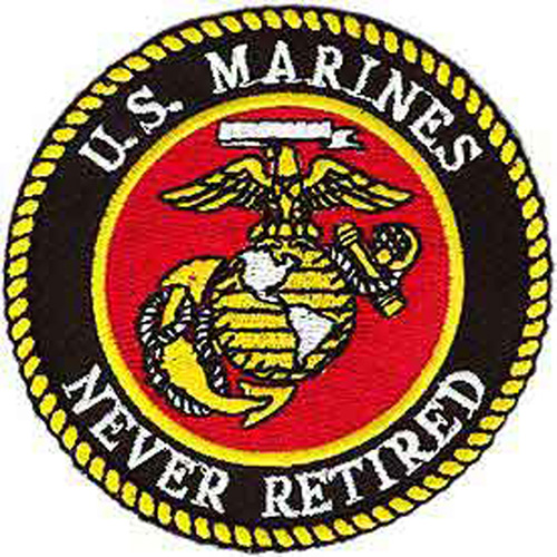 Patch-Usmc Logo Never Ret