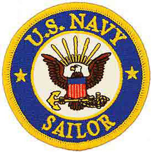 Patch-Usn Logo Sailor