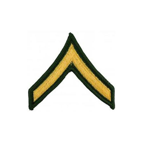 3 Inch Army Private Pair Dress Green E2 Patch